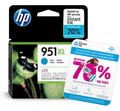 HP 951XL Officejet Ink Cartridge Cyaan (CN046AE) Packaging