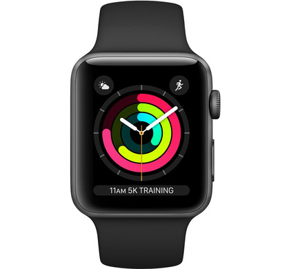 Apple Watch Series 3 38mm Space Gray Aluminum/Black Main Image