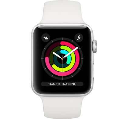 Apple Watch Series 3 38mm Silver Aluminum/White Main Image