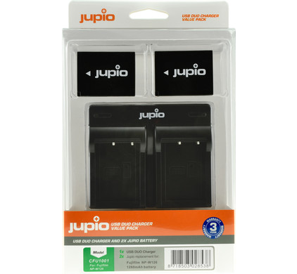 Jupio Kit: 2x Battery NP-W126S + USB Dual Charger Main Image