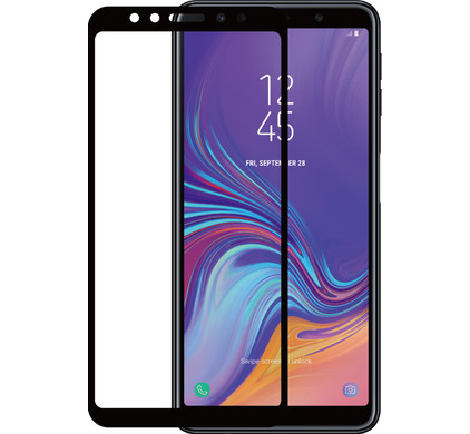 Azuri Gehard Glas Samsung Galaxy A7 (2018) Screenprotector Glas Zwart - Coolblue - Voor 23.59u, morgen in huis