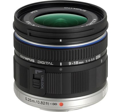 Olympus M.Zuiko Digital ED 9-18mm 1:4.0-5.6 Front