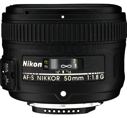 Nikon AF-S 50mm f/1.8G Front
