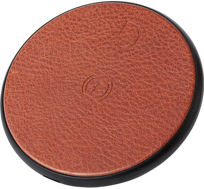 Decoded Leather Wireless Fast Charger Brown Main Image
