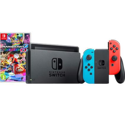 Nintendo Switch Rood/Blauw Mario Kart Bundel Main Image