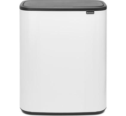 Brabantia Touch Bin 30 Liter Wit.Brabantia Bo Touch Bin 2 X 30 Liter White