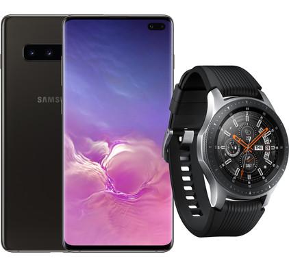 Samsung Galaxy S10 Plus 1TB Keramisch Zwart + Samsung Galaxy Watch Zilver Main Image