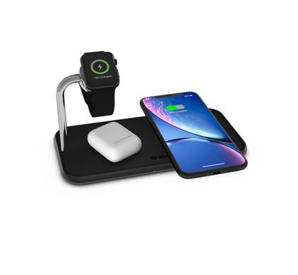 ZENS Dual & Watch Aluminum Wireless Charger 10W Black Main Image