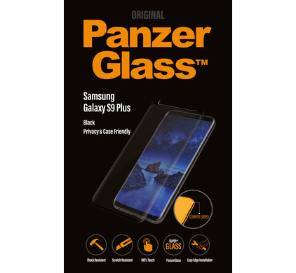 reputable site a0848 7ed65 PanzerGlass Case Friendly Privacy Samsung Galaxy S9 Plus Screen Protector  Glass Black