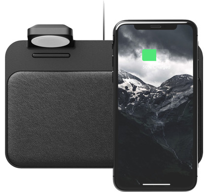 Nomad Base Station Wireless Charger With Integrated Apple Watch Charger Coolblue Before 23 59 Delivered Tomorrow