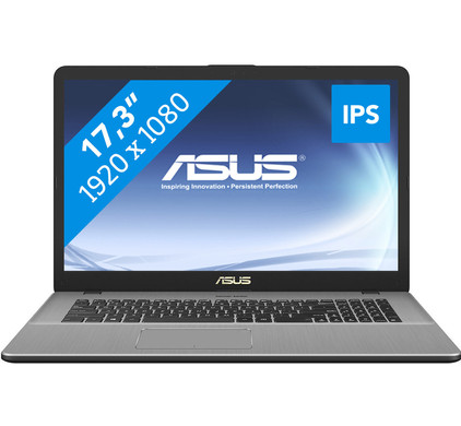 Asus VivoBook Pro N705UD-GC276T - GeForce GTX 1050, 16 GB RAM, 256 GB SSD, 17.3 inch