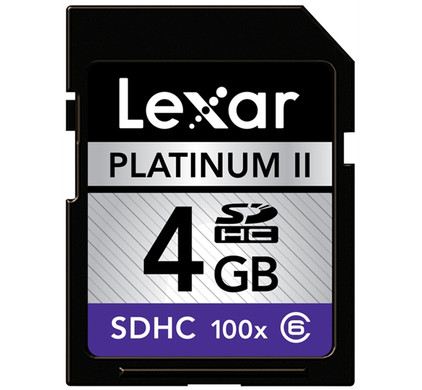 Lexar SDHC 4GB Premium 100x Class 6 + Geheugenkaartlezer