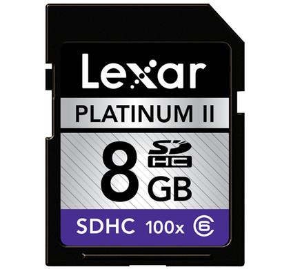 Lexar SDHC 8GB Premium 100x Class 6 + Geheugenkaartlezer