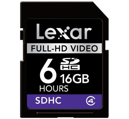 Lexar SDHC 16GB Full-HD Video + Geheugenkaartlezer
