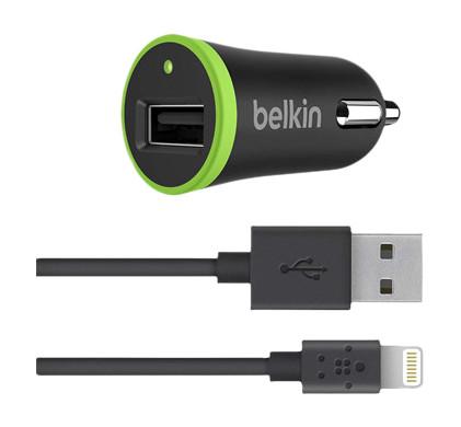 Belkin Lightning Car Charger 2,4A USB Black