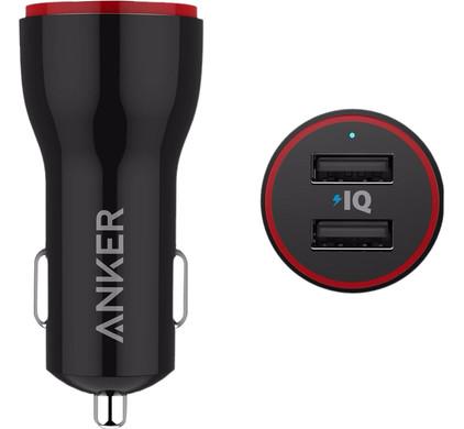 Anker PowerDrive Autolader Dual USB 4,8A Zwart