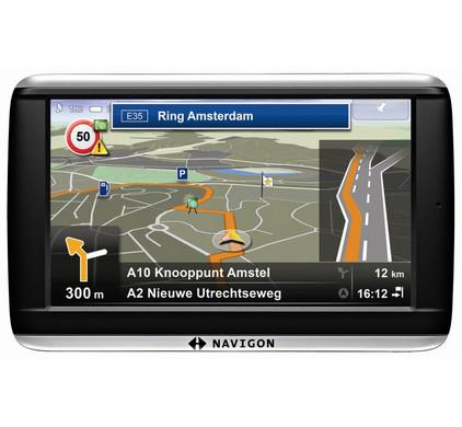 Navigon 42 Premium + Tas + Thuislader + Dashboard Donut