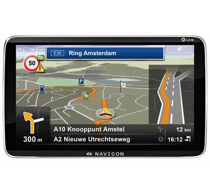 Navigon 92 Premium LIVE + Tas + Thuislader + Dashboard Donut