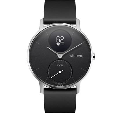 Withings Steel HR Zilver/Zwart 36 mm