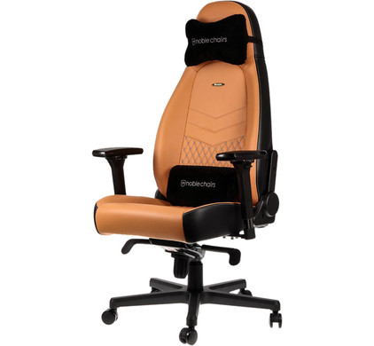 noblechairs ICON Genuine Leather Gaming Chair BlackBeige