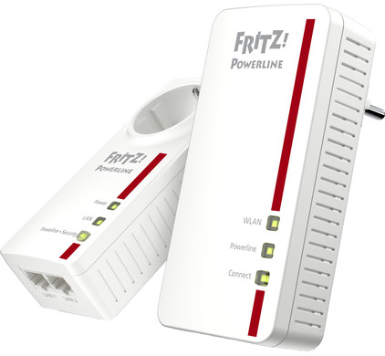 AVM FRITZ!Powerline 1260E WLAN Set International WiFi 1200 Mbps 2...