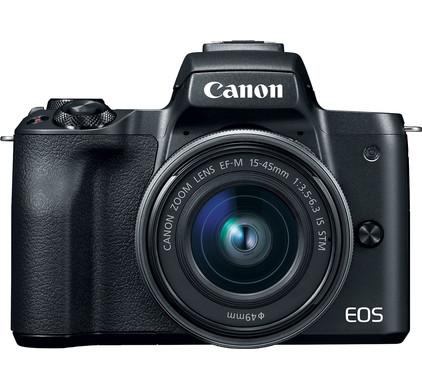 Canon EOS M50 Body Zwart + 15-45mm f/3.5-6.3 IS STM
