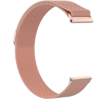 Just in Case Fitbit Versa Milanees Horlogeband Rose Goud