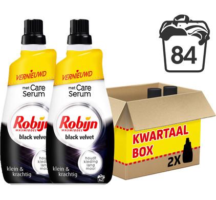 Robijn Klein & Krachtig Black Velvet Wasmiddel - Kwartaalpakket