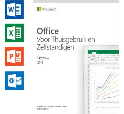 Microsoft Office 2019 Thuisgebruik en Zelfstandigen NL - Coolblue - Voor  23.59u, morgen in huis