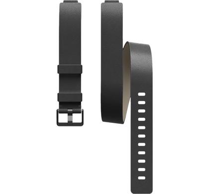 Fitbit Inspire/Inspire HR Dubbel Bandje Leer Zwart