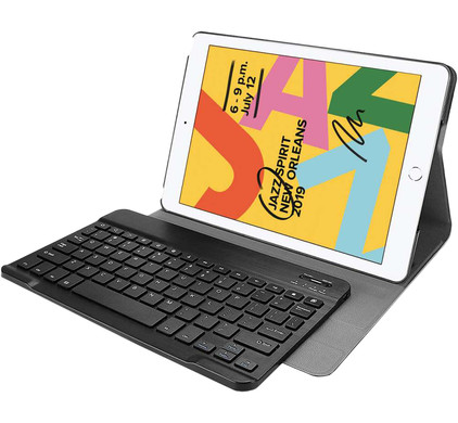 Just in Case Premium Apple iPad (2020)/(2019) Bluetooth Keyboard Cover QWERTY Zwart