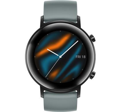 Huawei Watch GT 2 RVS Zwart/Cyan 42mm