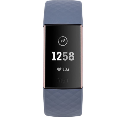 Fitbit Charge 3 Blue Grey/Rose Gold Aluminium
