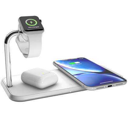 ZENS Dual & Apple Watch Aluminium Draadloze Oplader 10W Wit
