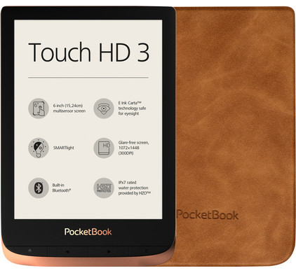 Pocketbook Touch HD 3 Koper + Pocketbook Shell Touch HD 3 Bruin
