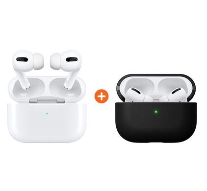 Apple AirPods Pro oplaadcase + Nomad Airpods hoesje Zwart