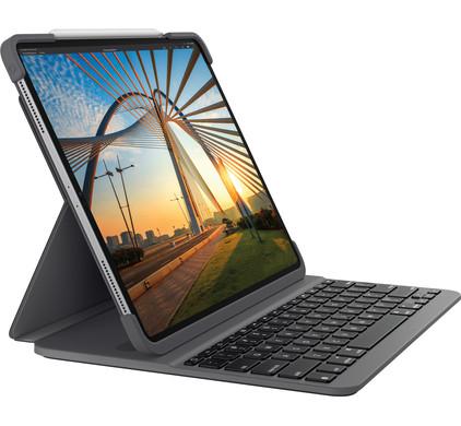 Logitech Slim Folio Pro Apple iPad Pro 12,9 inch (2018) Toetsenbord Hoes QWERTY Grijs