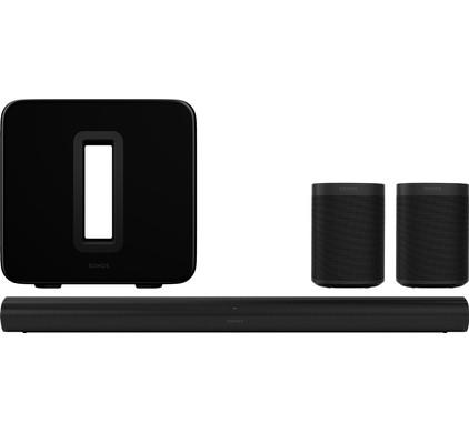 Sonos Arc 5.1 + Sub + One Duopack Zwart