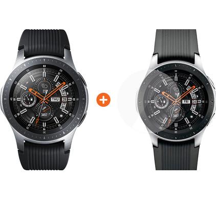 Samsung Galaxy Watch 46mm Silver + PanzerGlass Samsung Galaxy Watch 46mm Screenprotector G