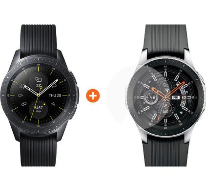 Samsung Galaxy Watch 42mm Midnight Black + PanzerGlass Samsung Galaxy Watch 42mm Screenpro