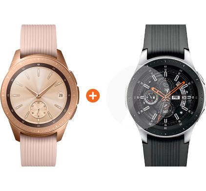 Samsung Galaxy Watch 42mm Rose Gold + PanzerGlass Samsung Galaxy Watch 42mm Screenprotecto