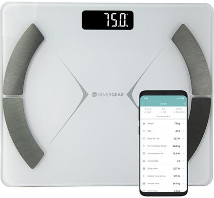 Silvergear Bluetooth Personenweegschaal Wit