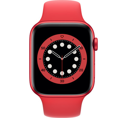 Apple Watch Series 6 44mm RED Aluminium RED Sportband
