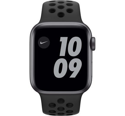 Apple Watch Nike SE 40mm Space Gray Aluminium Zwarte Sportband