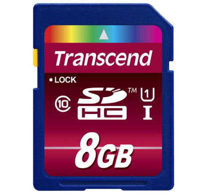 Transcend SDHC UHS-1 8 GB Class 10 + Geheugenkaartlezer
