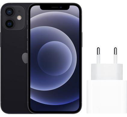 Apple iPhone 12 mini 128GB Zwart + Apple Usb C Oplader 20W