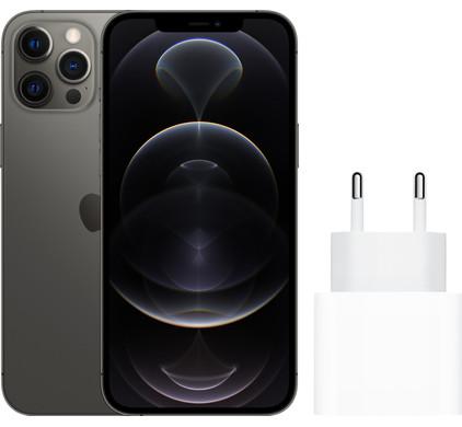 Apple iphone 12 pro max 128gb grafiet + apple usb c oplader 20w