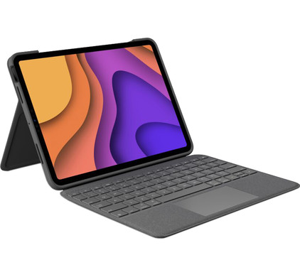 Logitech Folio Touch Apple iPad Air (2020) Toetsenbord Hoes QWERTY Grijs