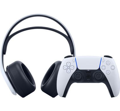 Sony PlayStation 3D Pulse draadloze headset + Sony PlayStation 5 DS draadloze controller