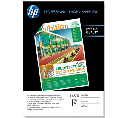 HP Professional Glossy Foto Laserpapier 100 vel (A4)